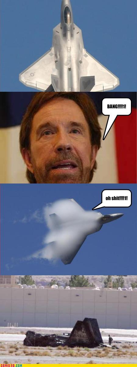 Chuck Norris Bang Plane