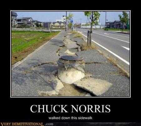 Chuck Norris Sidewalk