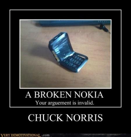 Chuck Norris Broken Nokia