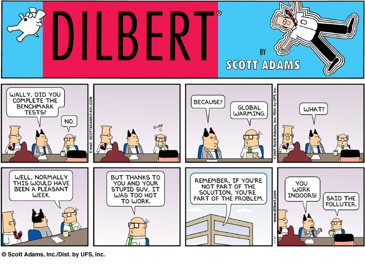 Working From Home Dilbert further Dilbert On Powerpoint Serious Powerpoint Lessons Silly  ic Strip as well Funny Star Wars  ic Strips likewise Four Building Blocks Of Predictable Project Execution additionally Corporate Security Gone Wrong Dilbert Cartoon. on dilbert questions
