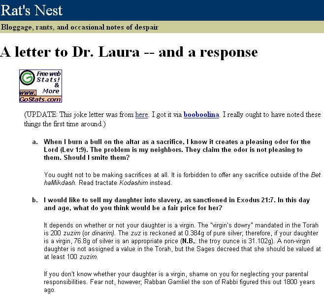 Response to the letter to dr laura on homosexuality leading responseletterdrlaura1 responseletterdrlaura2 responseletterdrlaura3 altavistaventures Image collections
