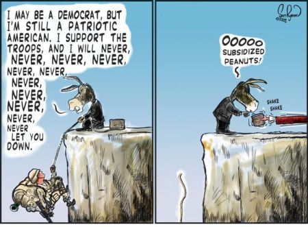 DemocratsNeveLetTroopsDown