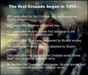 the crusade unjustified attack on muslims The crusades (1096-1204) were christian conquests to recover the holy land  from  the christian attacks on muslims were not justified because the amount of .