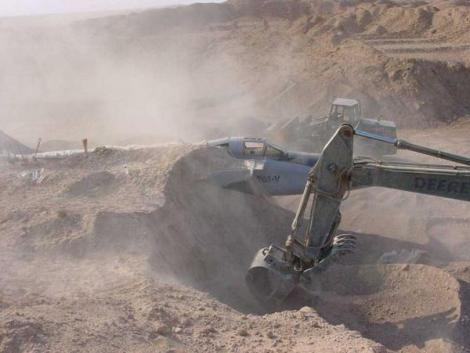 Iraq Sand Buried Jet 3