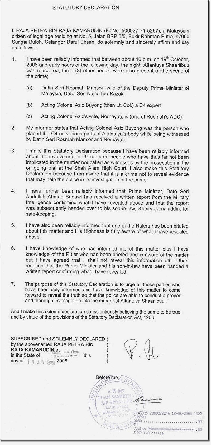 Raja Petra Kamarudin Has Declared War! | LEADING MALAYSIAN ...