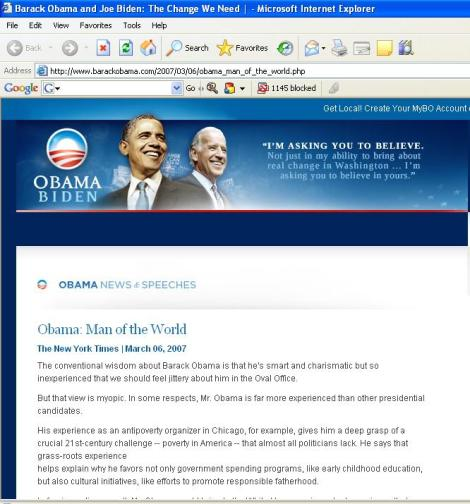 Obama Muslim admission