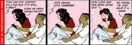 Obama Pig Lipstick Cartoon