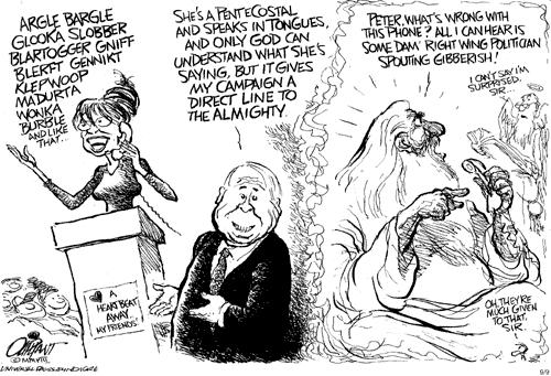 Washington Post Cartoon Mocks Pentecostal Speaking in Tongues