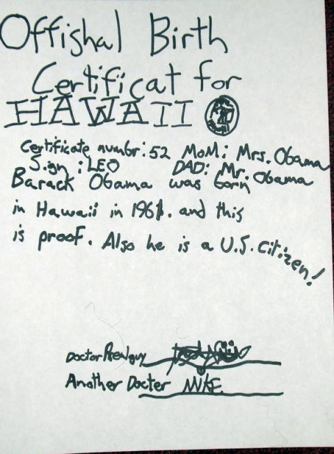 Obama Real Birth Cert