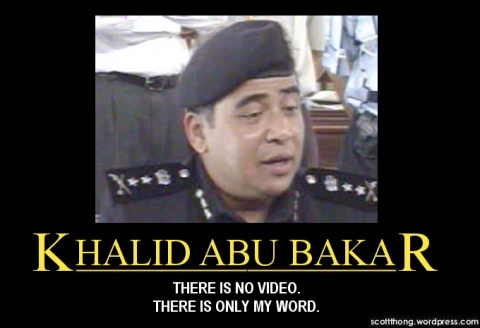 Khalid Abu Bakar deny video evidence Negaraku Bersih arrests