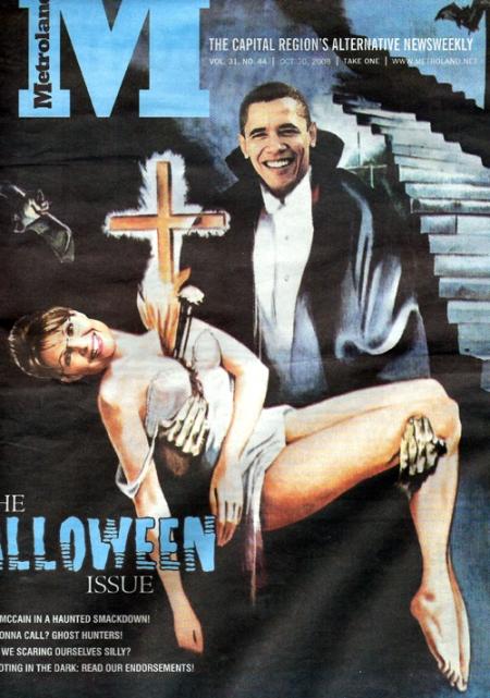 Sarah Palin vampire Obama