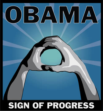 Obama Sign of Progress O Hand Salute