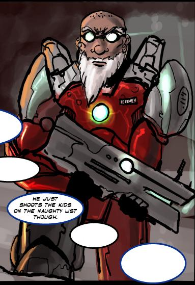 Santa Claus Power Armour Combat Reboot Comic