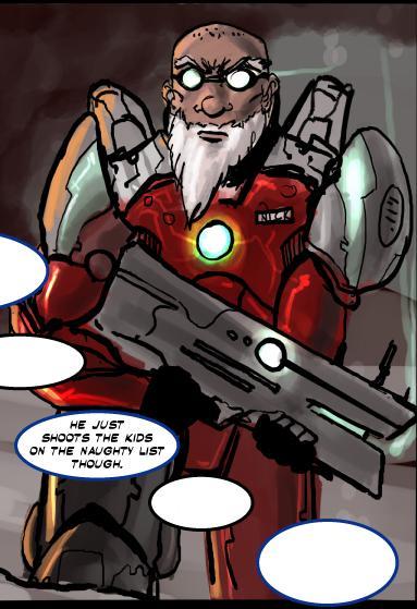 Santa Claus Power Armour Combat Reboot Comic