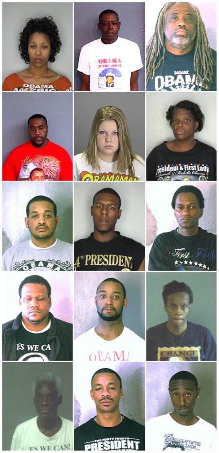 Obama Supporter Felon Mugshots