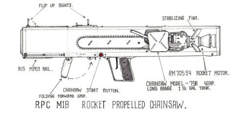 Rocket Propelled Chainsaw Launcher