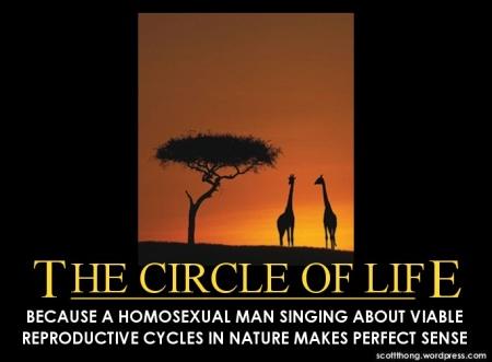 The Circle of Life Homosexual Sense