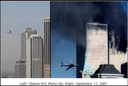 Obama Air Force One 9/11 Scare