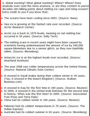 Global warming is unfactual don't naively believe