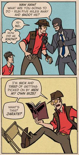 Team Fortress 2 Jarate Sniper vs Spy comic