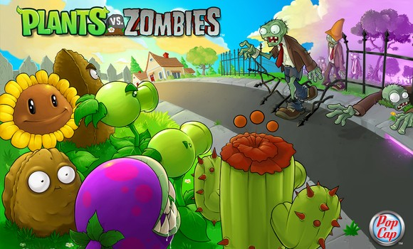 Plants vs. Zombies logo.
