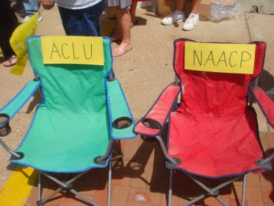 ACLU and NAACP absent chairs