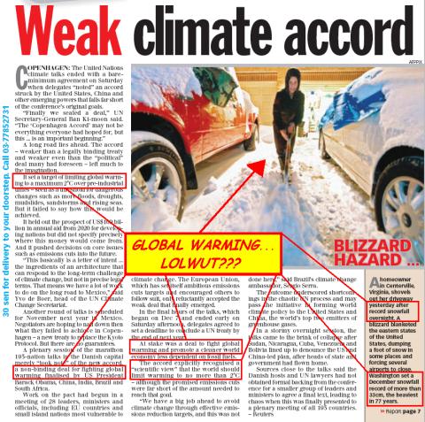 Copenhagen Global Warming Blizzard Lolwut