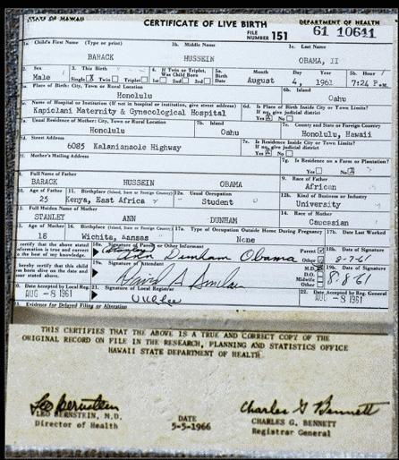 Obama birth cert forgery
