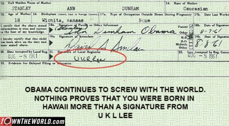 Obama birth cert forgery