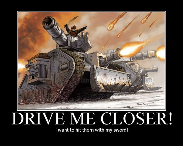 Drive Me Closer I Want to Hit Them with My Sword