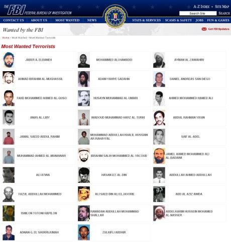 FBI most wanted terrorists 2011