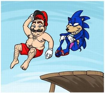 Mario & Sonic Go Swimming