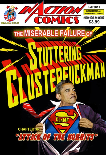 Obama SCOaMF Stuttering Clusterfuck of a Miserable Failure Teleprompter