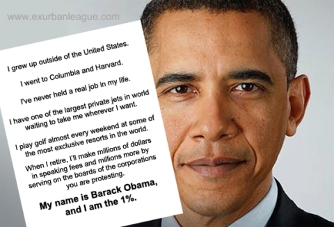 Barack Obama is the One Percent 1%