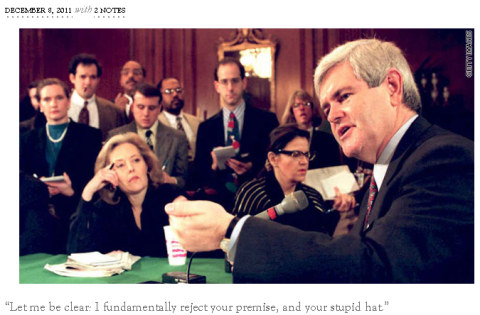 Newt Gingrich Judges You