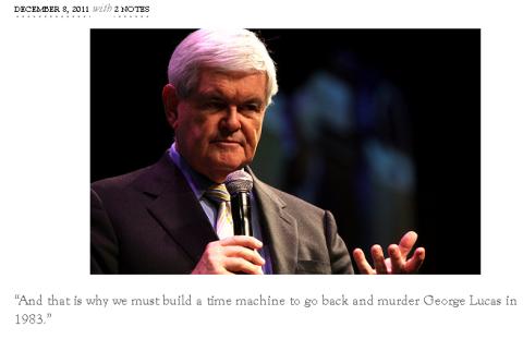 Newt Gingrich Judges You