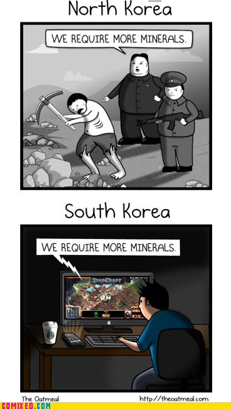 North Korea South Korea Minerals Starcraft