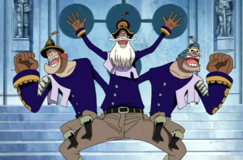 One Piece Three Headed Judge Baskerville