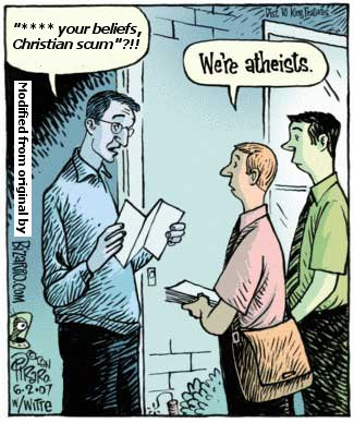 Atheist Evangelists Realistic Real Life Cartoon